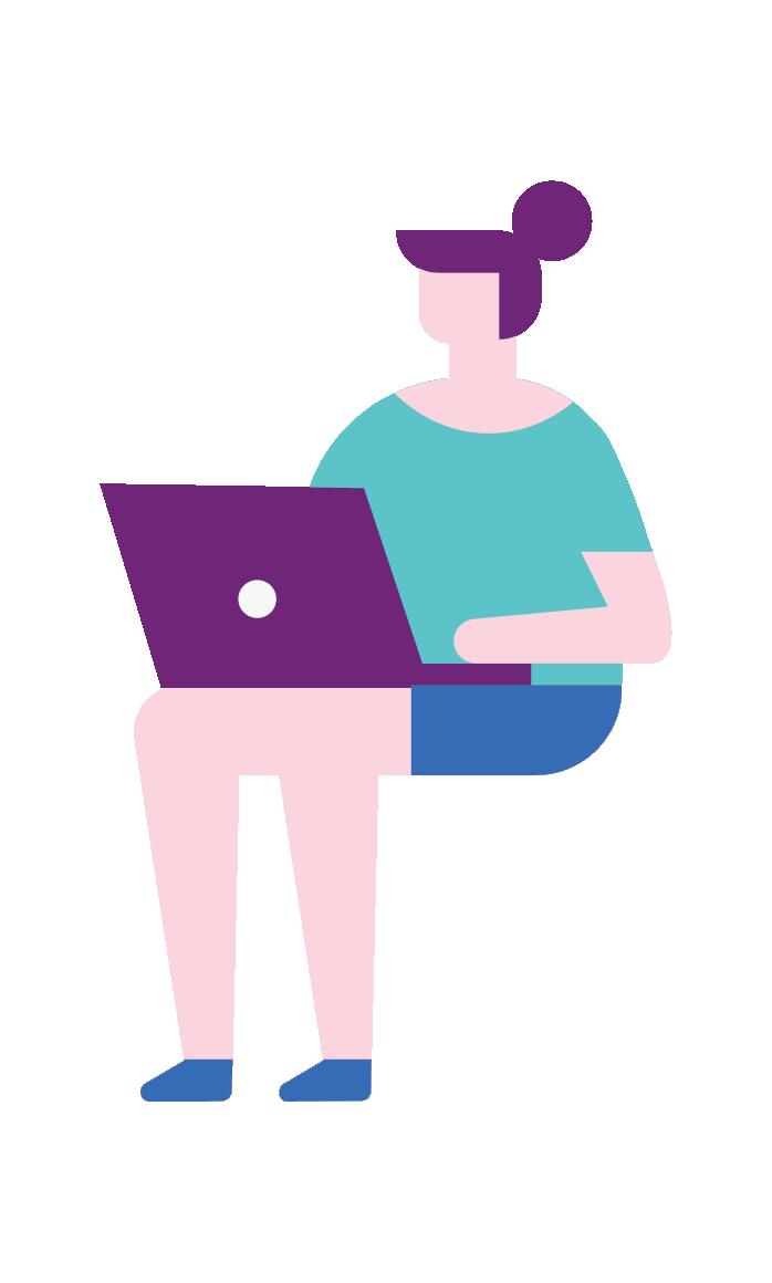 person on laptop illustration
